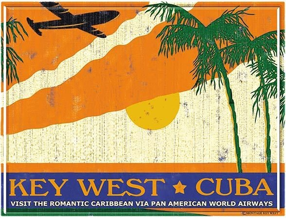 PA AM KEY WEST TO CUBA * 8'' x 11'' 10504