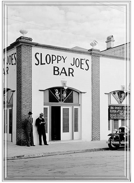 SLOPPY JOE'S VINTAGE * 7'' x 11'' 10507