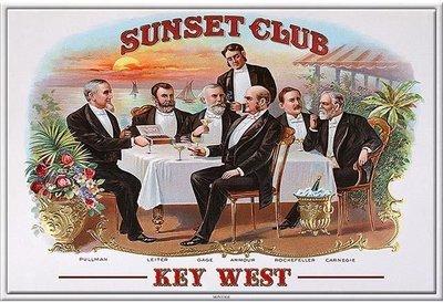 SUNSET CLUB KEY WEST * 6'' x 11''