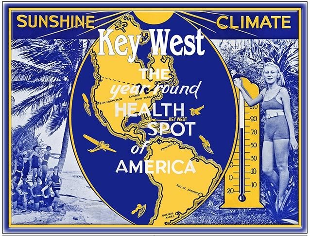 KEY WEST SUNSHINE CLIMATE * 8'' x 11''