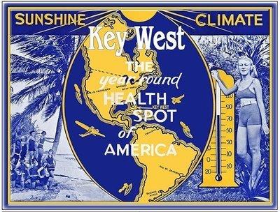 KEY WEST SUNSHINE CLIMATE * 8'' x 11''