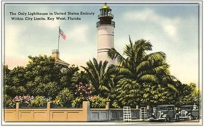 KEY WEST LIGHTHOUSE WITHIN CITY LIMITS * 6'' x 11''