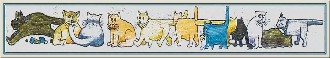 NAPI'S CATS * 3'' x 16''