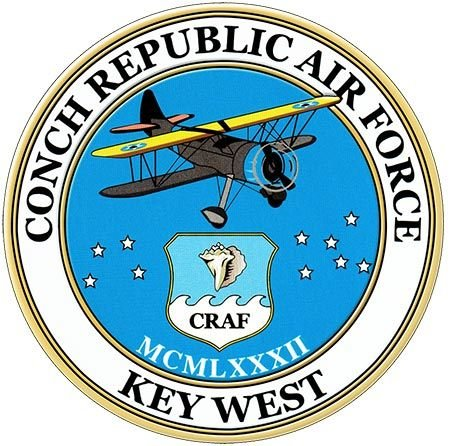 CONCH REPUBLIC AIR FORCE * 8'' x 8'' 10546