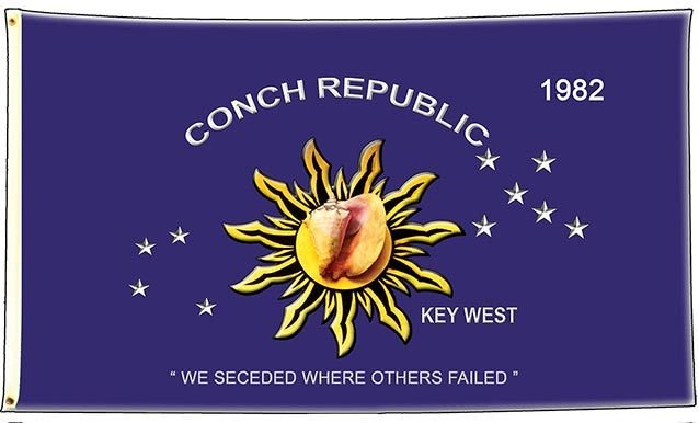 CONCH REPUBLIC FLAG * 6'' x 11''