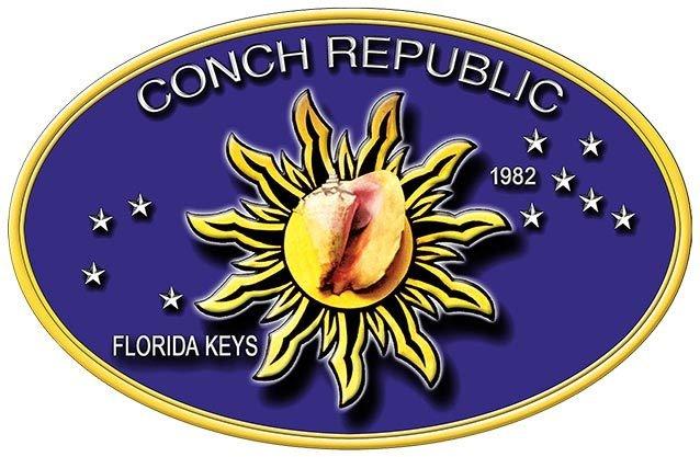 CONCH REPUBLIC OVAL * 7'' x 11''