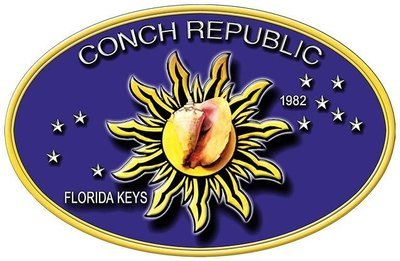 CONCH REPUBLIC OVAL * 7'' x 11''