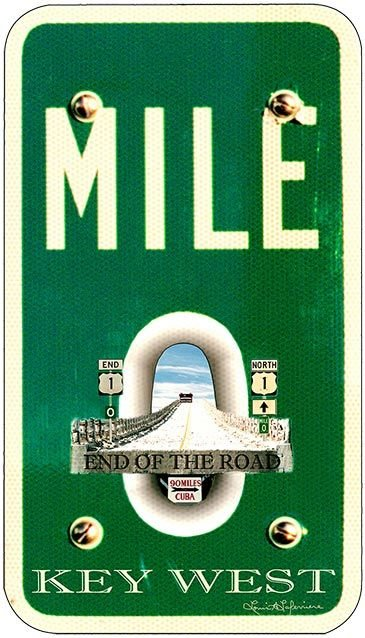 MILE 0 END OF ROAD * 6'' x 11''