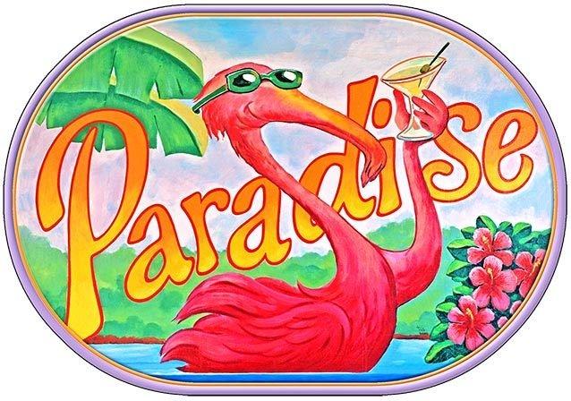 PARADISE FLAMINGO * 7'' x 11'' 10564
