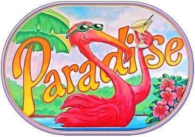PARADISE FLAMINGO * 7'' x 11''