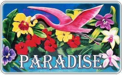 PARADISE FLOWERS * 6'' x 11''