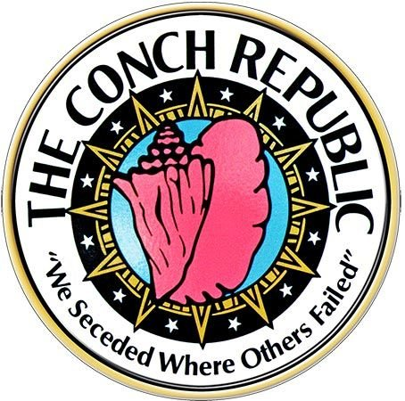 CONCH REPUBLIC WE SECEEDED * 8'' x 8'' 10573