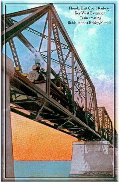 TRAIN ON BAHIA HONDA BRIDGE * 6'' x 11'' 10576
