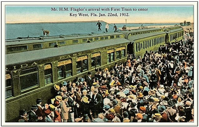 FLAGLER'S FIRST TRAIN TO KEY WEST * 6'' x 11'' 10577