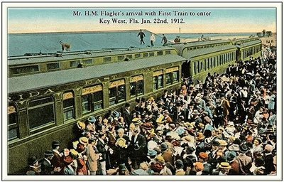 FLAGLER'S FIRST TRAIN TO KEY WEST * 6'' x 11''