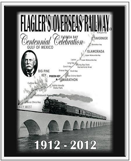 FLAGLER'S RAILWAY 1912-2012 * 8'' x 11'' 10580
