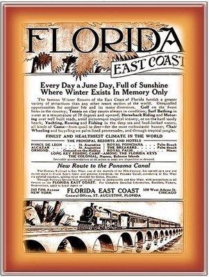 FLORIDA EAST COAST ALWAYS A JUNE DAY * 8'' x 11''