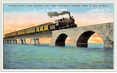 TRAIN CROSSING BRIDGE * 6'' x 11''