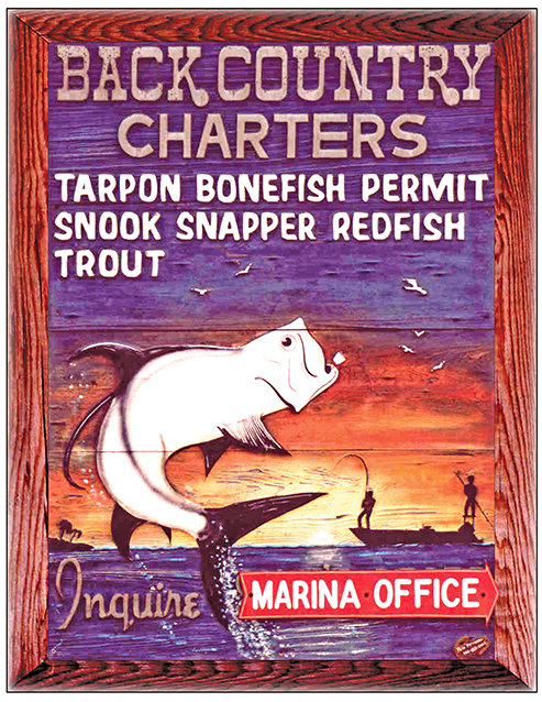 BACKCOUNTRY CHARTERS SUNSET * 8'' x 11'' 10588