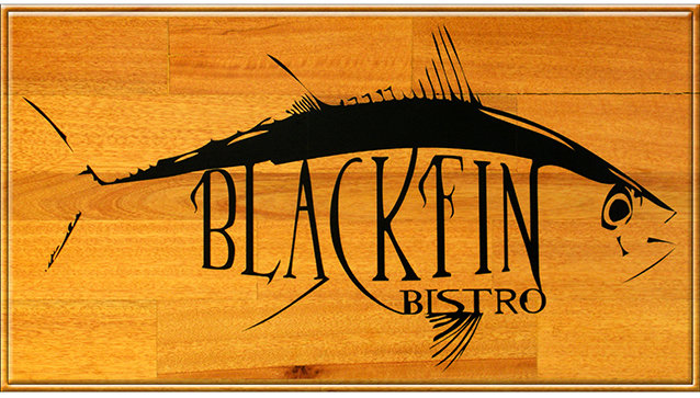 BLACK FIN BISTRO * 5'' x 11'' 10594