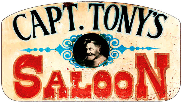 CAPT TONY'S OLD SIGN * 6'' x 11'' 10600