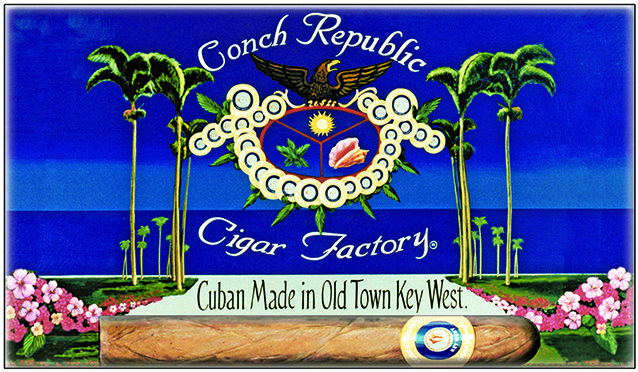 CONCH REPUBLIC CIGAR * 6'' x 11'' 10606