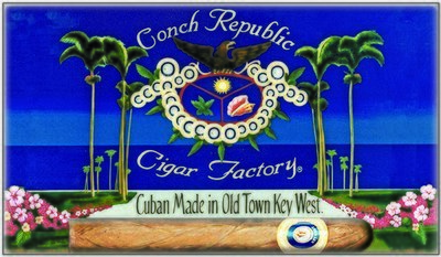 CONCH REPUBLIC CIGAR * 6'' x 11''