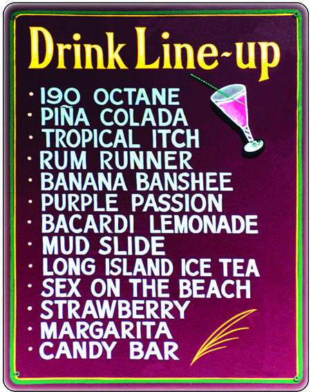 DRINK LINE UP * 7'' x 11'' 10611