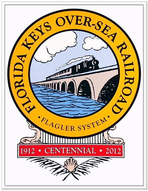 FL OVERSEAS RAIL CENTENNIAL LOGO * 8'' x 11'' 10619