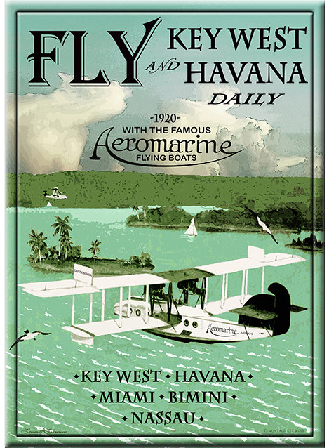 FLY AEROMARINE KEY WEST TO CUBA * 8'' x 11'' 10620