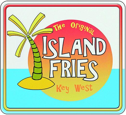 KEY WEST ISLAND FRIES * 8'' x 8''