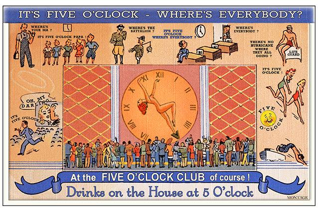 FIVE O'CLOCK CLUB 2 * 6'' x 11'' 10629