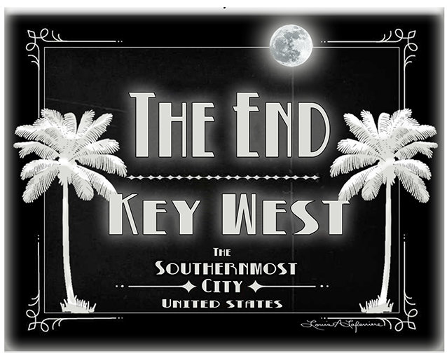 THE END KEY WEST B&W * 8'' x 11''1 10649