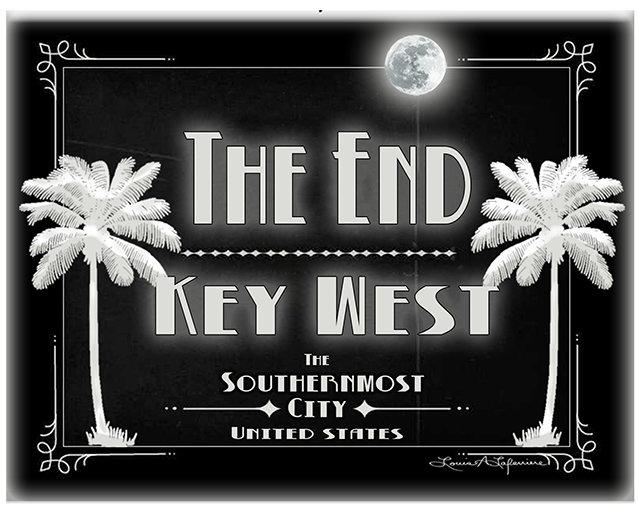 THE END KEY WEST B&W * 8'' x 11''1 10649