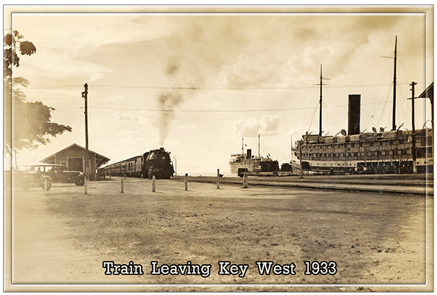 TRAIN LEAVING KEY WEST * 7'' x 11'' 10651
