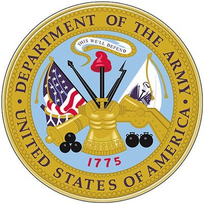 US ARMY SEAL * 8'' x 8''