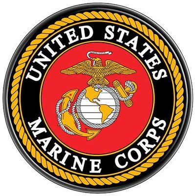 US MARINES SEAL * 8'' x 8''