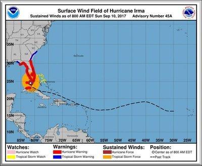 Hurricane Irma Path 8