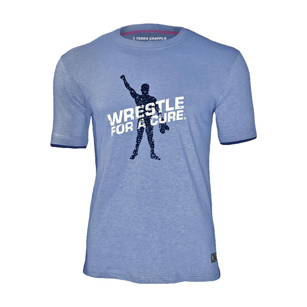 Wrestle for a Cure™ Soft Blue Tee
