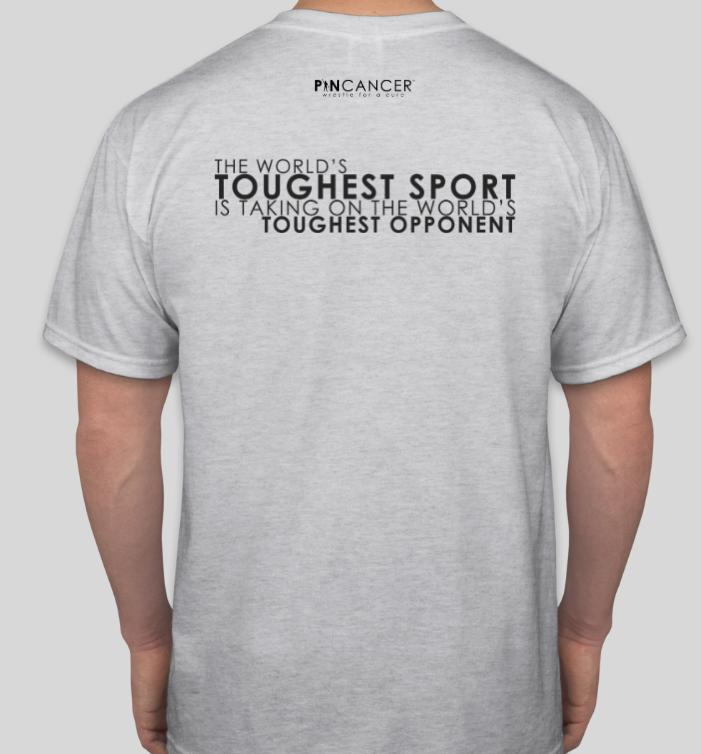 Pin Cancer Graphic T-Shirt (Ash)
