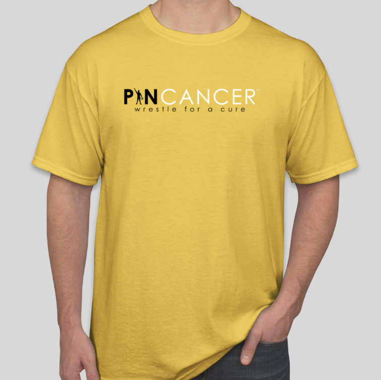 Pin Cancer Graphic T-Shirt (Gold)