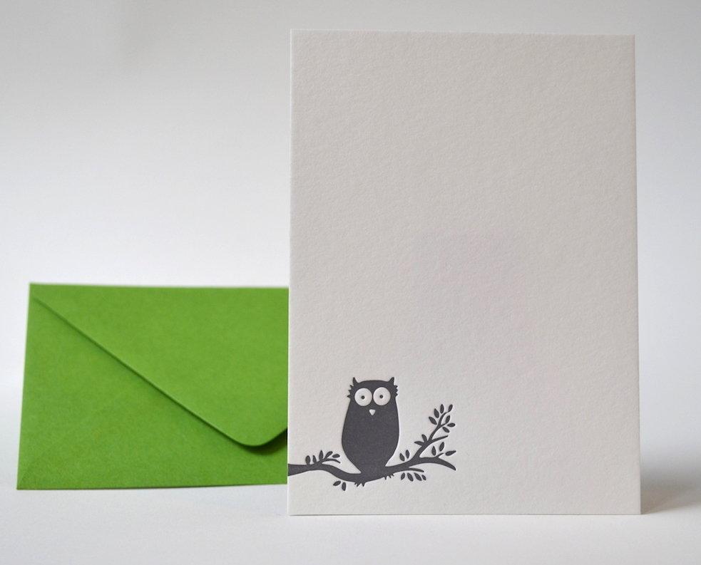 Owl . Green