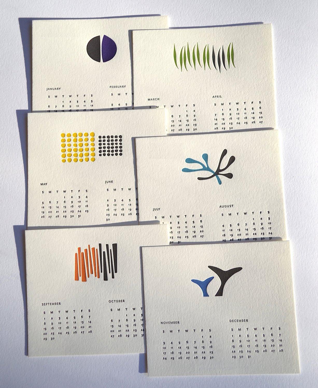 2019 Letterpress Calendar