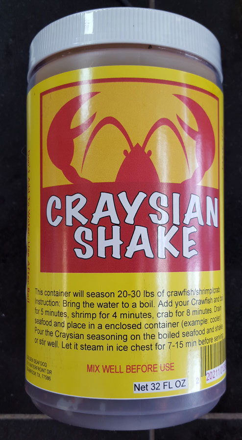 Craysian Shake Crawfish Seasoning