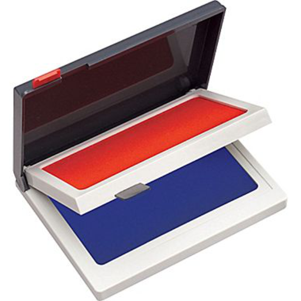Two Color Ink Pad (Red/Blue)