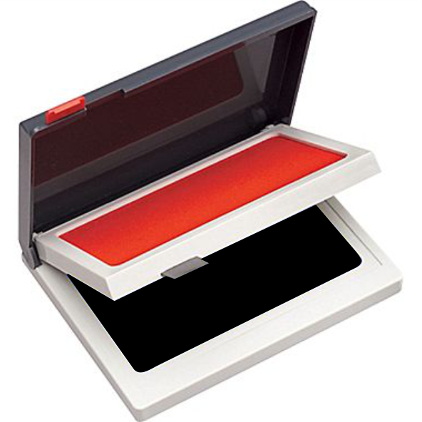 RED / BLACK 2- COLOR INK PAD