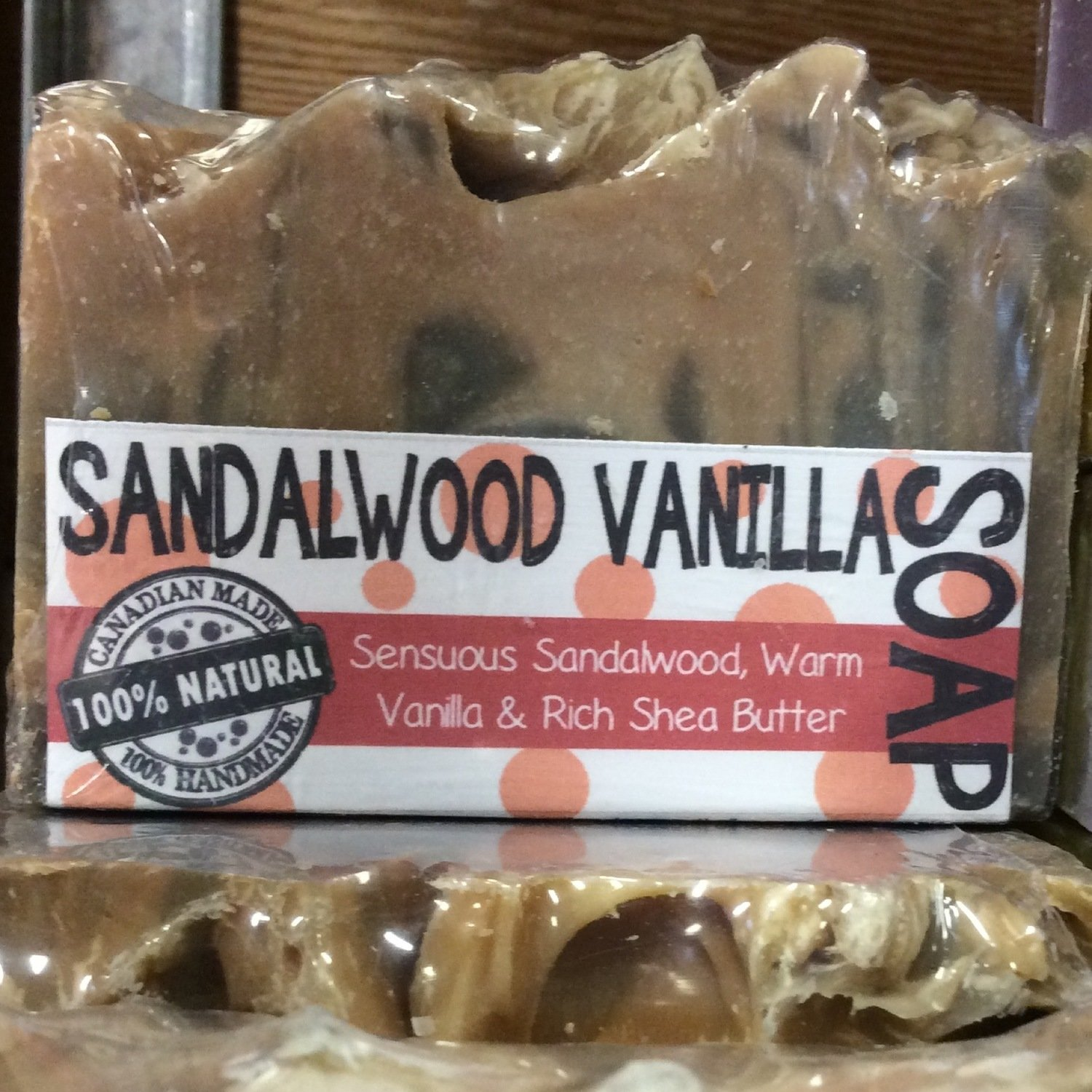 Sandalwood Vanilla 100% Natural Essential Oil Soap