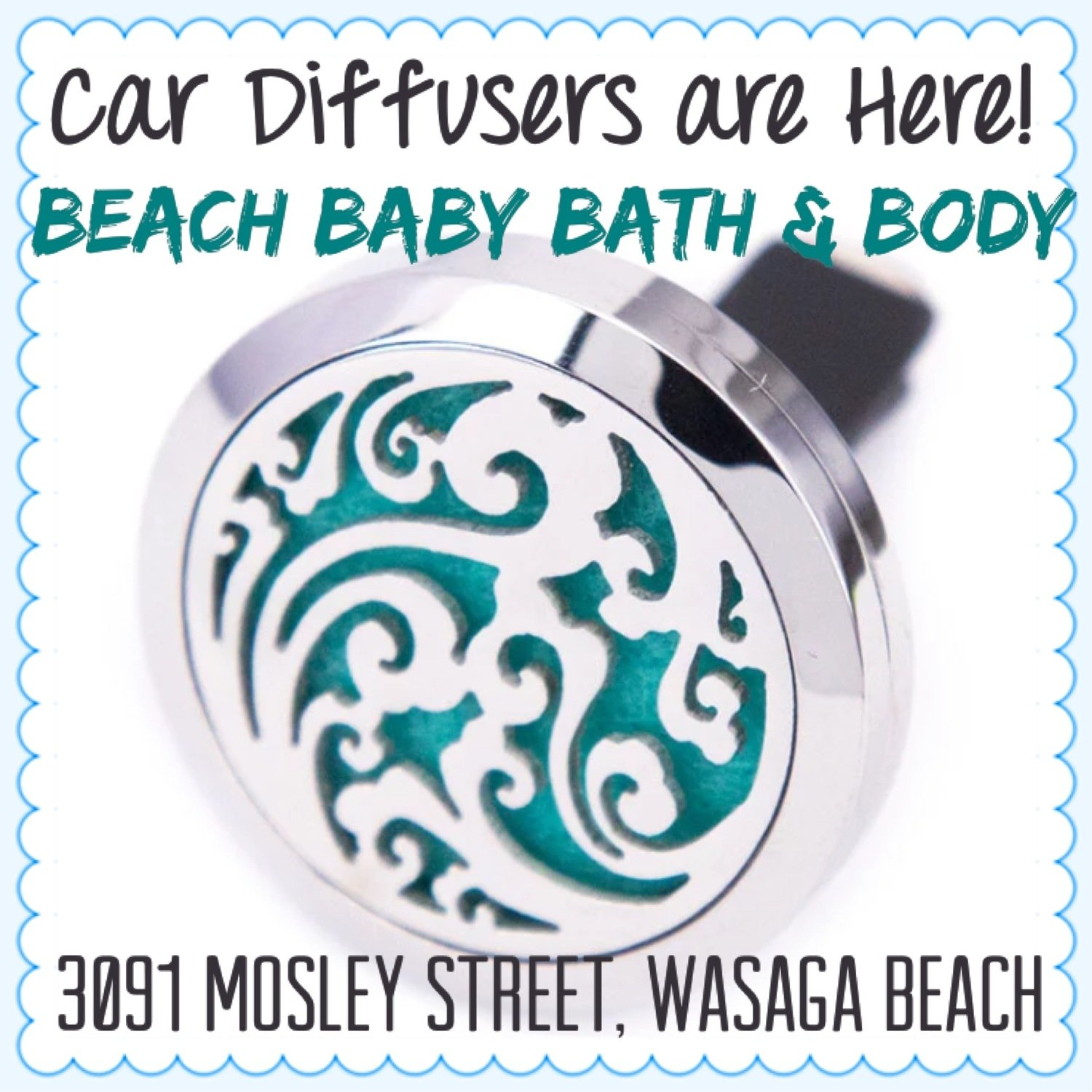 Car Essential Oil Diffuser - Stainless Steel Vent Clip