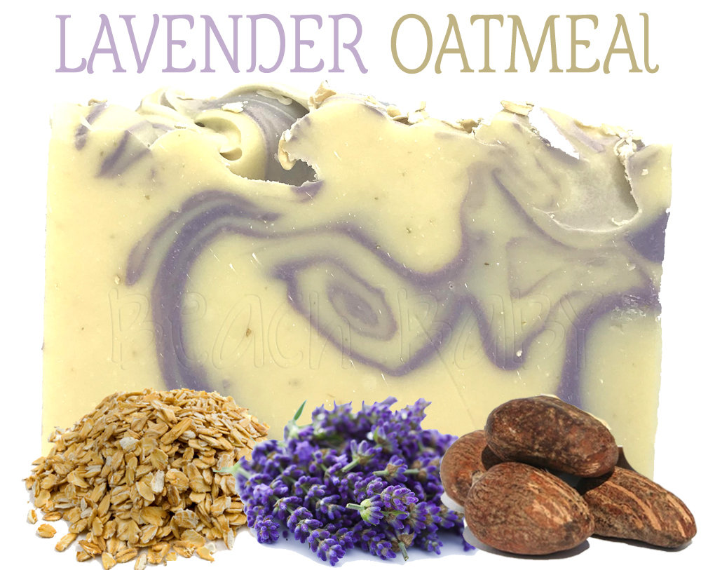 Lavender Oatmeal 100% Natural Essential Oil Soap