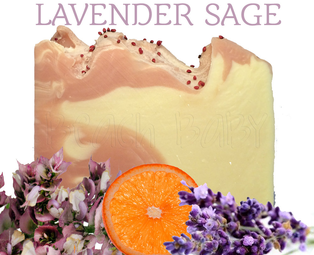 Lavender Sage 100% Natural Essential Oil Soap
